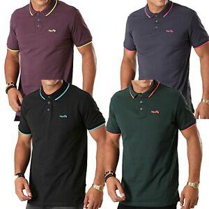 Mens Tokyo Laundry Pique Polo Neck Short Sleeve 100% Cotton T-Shirt Top Shirt