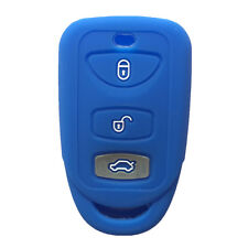 Navy Blue 3 Buttons Silicone Key Fob Case Cover Jacket Skin fit for Kia Hyundai