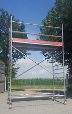 Fahrgerüst Rollgerüst Rollrüstung Uni breit Alugerüst Layher/Assco AH 5,10 m