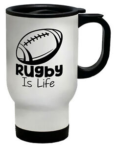 Rugby is Life Travel Mug Cup