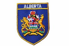 ALBERTA  Blue Shield CANADA Provincial Flag IRON-ON PATCH CREST BADGE