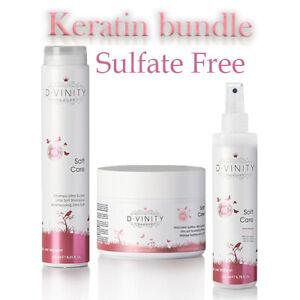 Sulfate FREE Keratin Hair Care Set Shampoo hair mask total repair Keratin spray