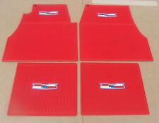 1955 1956 1957 CHEVY RED FLOOR MATS , NEW set 4 ** USA MADE **