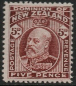 E2 ;1909 EDWARD VII 5d BROWN - MINT, VERY LIGHTLY HINGED (CAT. $35.00 MLH)