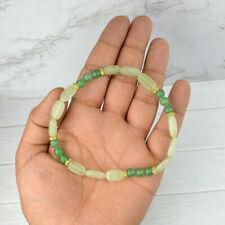 Giada Verde Cavigliera Reiki Healing Pietra Cristallo Naturale Moda Catena