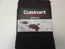 Purple/Grape Napkins by Cuisinart, 4-Pack Spill-Proof, NIP