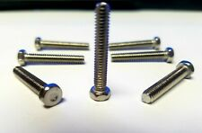 """#8 X 1"""" Indented Hex Head Machine Screw Stainless Steel 100 Qty"""