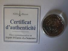 """PIECE COMMEMORATIVE EN ARGENT 10€ """"LA SEMEUSE"""" (ANNEE 2009)"""