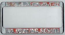 RARE TNBA L.A. Bowling Senate Vintage Los Angeles California License Plate Frame