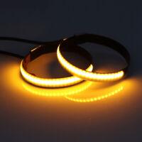 12V LED Motorrad Fork Clamp DRL Blinker Standlicht Tagfahrlicht Lampe Amber Gelb