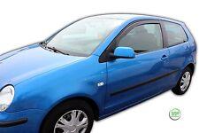 VW POLO 9N  3 DOOR 2002-2009 SET OF FRONT WIND DEFLECTORS  2pc HEKO TINTED