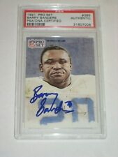 BARRY SANDERS (Detroit Lions) Signed 1991 PRO SET Card #388 PSA Certified
