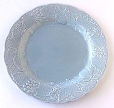 """Nikko Woodbury Blue 10 3/4"""" Dinner Plate Leaf Fruit Home Plate Retired Japan"""