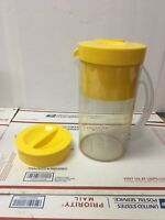 Mr. Coffee Iced Tea Maker 2 Qt Pitcher Basket Lid Yellow TM1S Replacement Parts
