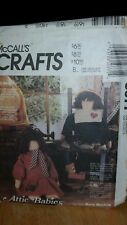 McCALL'S CRAFTS 5077 ATTIC BABIES DOLLS & CLOTHES