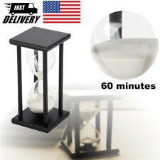 60min Hourglass Sand Timer Wooden Hour Glass Sand Clock Home Decoration Gift