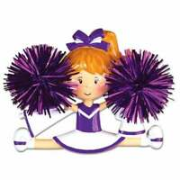 Cheerleader Purple Personalized Christmas Ornament OR1488-P