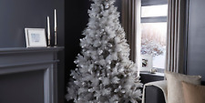 7FT Stunning Premier Grey Silver Fir Christmas Tree Frosty Winter Wonderland