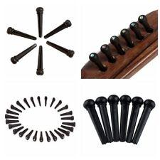 6x String Pegs Universal Ebony Pearl Shell Dot Bridge Pins Acoustic Guitar Parts
