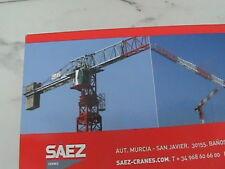 SAEZ CRANE 55 TL DIE CAST MODEL CRANE  1:87 SCALE ROS SRL MODEL SL-55