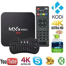 MXQ PRO SMART TV BOX 4K ANDROID QUAD CORE WIFI INTERNET TV TASTIERA OMAGGIO