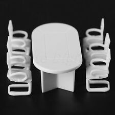 1Set For Furniture Decor White Conference Room Table & Chairs Model 1:50