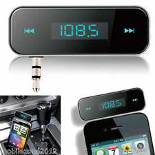 CAR MP3 WIRELESS FM Trasmettitore Radio Mani Libere per Iphone 5 Galaxy S5 S4-uz19