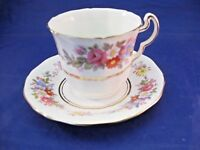 Vintage ADDERLEY Tea Cup and Saucer - Bristol Sprays - Made in England
