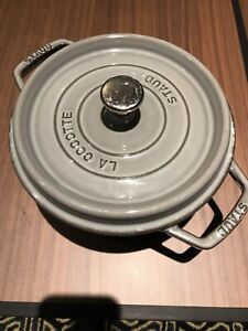 Staub Gray  Round Cocotte, 2.75-quart