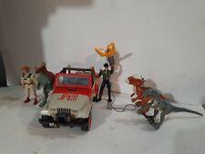 Jurassic Park Legacy Jeep Lot w/ Dinosaurs & Figures