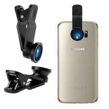 SET lenti universale 3in1 FishEye Grandangolo Macro per Samsung Galaxy S6 Nero