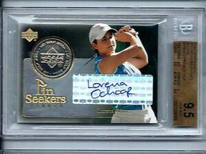 2004 UD Golf Silver Ball Marker Lorena Ochoa Mexico BGS Gem Mint 9.5 Auto 10