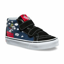 12d4d928cb0791 Vans UY SK8-Mid (Peanuts) Flying Ace Dress Blues VN0A346YOHK Kids Size