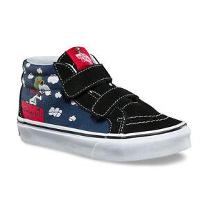 Vans UY SK8-Mid (Peanuts) Flying Ace/Dress Blues VN0A346YOHK Kids Size 3.0