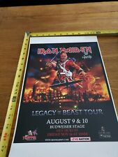 Iron Maiden 2019 Toronto Tour Poster