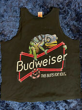 New listing Vintage 1990 Bud Budweiser Beer Tank Top Shirt Size Xl