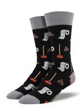 Socksmith Men's Funny Sock Potty Party, Poop! Size 8-13 Black