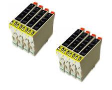 SET 8 NEGROS T0611 611 COMPATIBLE GEN NON OEM PARA EPSON STYLUS D68 D88 D88+