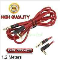 1.2m 3.5mm Mini STEREO Jack to Jack Aux Cable Audio Auxiliary Lead PC Car GOLD