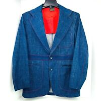 Vintage 1970s 2 Piece Set Sears Jeans Joint Hipster Jacket 38 and Pants 30X32