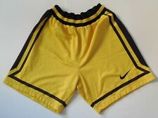 Nike Basketball Shorts Vintage Yellow Black Kk Split Made in Portugal Size Xxl