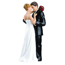 USA 5.5*7*16.8cm Cake Topper Couple Wedding Bride Groom Marriage Resin Figurine