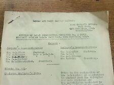 LNER minutes local departmental committee 1946 YMO Hull West Railwayana