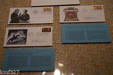 Lot of 3 1977 TALKING PICTURE SARATOGA Commemoration First Day Postage Stamp FDC