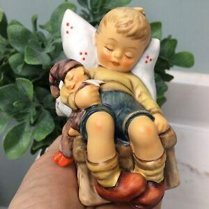 HUMMEL GOEBEL FIGURINE 451 TMK 7 Just Dozing Little Boy With Doll Sleeping