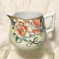 Antique Nippon Pitcher Floral Design