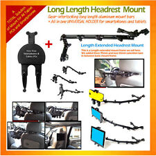 Long sturdy metal Headrest Mount+allinone Universal Holder 4 Tablets,Smartphones