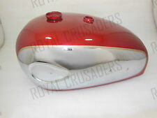 NEW BSA A7 A10 SUPER ROCKET CHERRY PAINTED CHROMED PETROL TANK (REPRODUCTION)