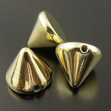 300pcs Bullet Cone Spike Acrylic Punk Rivet Bracelet Spacer Beads 36266