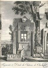 1820 engraving Chateau de Chaumont France architecture